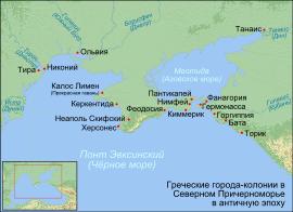 Античные поселения причерноморья