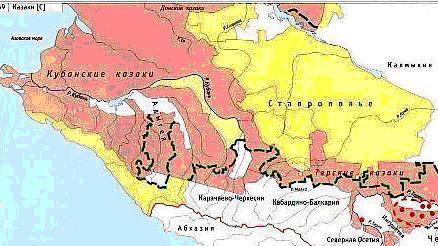 Расселение казаков на Кавказ