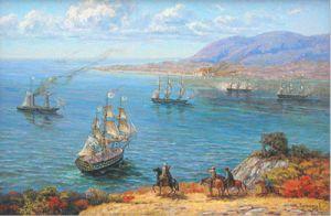 Русская эскадра заходит в Суджукскую бухту